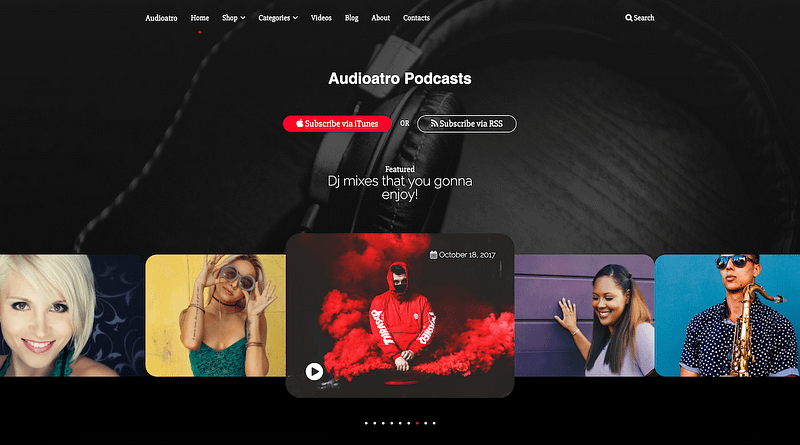 Audioatra live audio theme