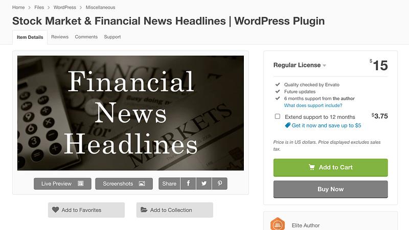 Stock Market & Financial News Headlines