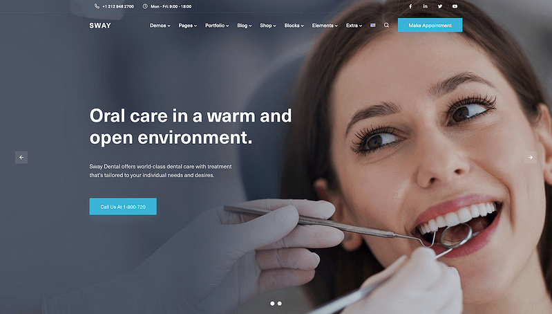 Sway Dentist template