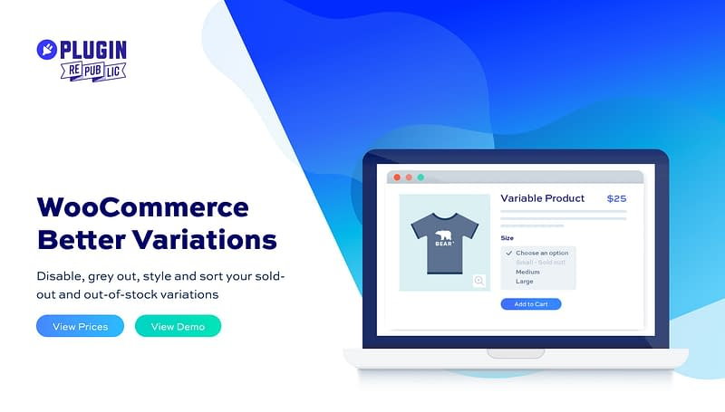 WooCommerce Better Variations plugin