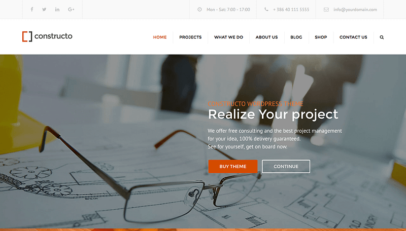 Constructo WP theme