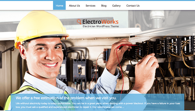 Electroworks WordPress theme
