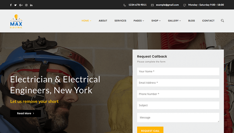 Max Electric theme for WordPress