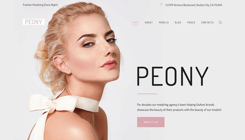 Peony modelling theme