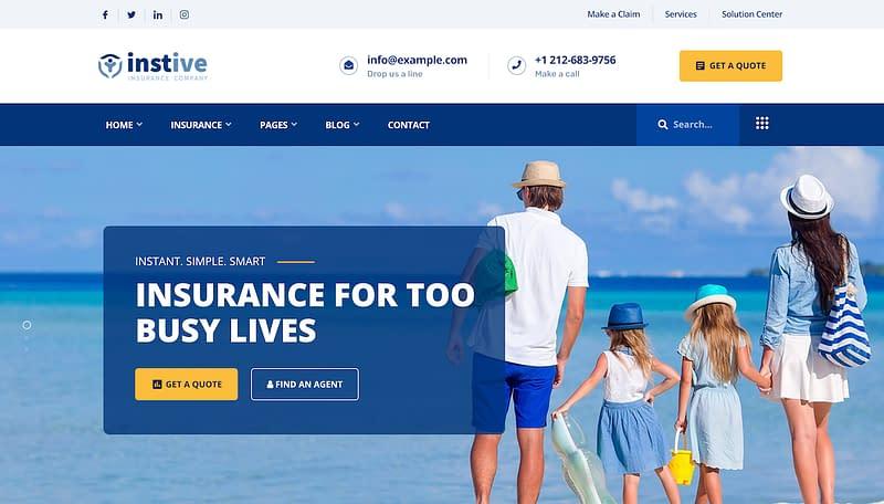 Instive Insurance Theme