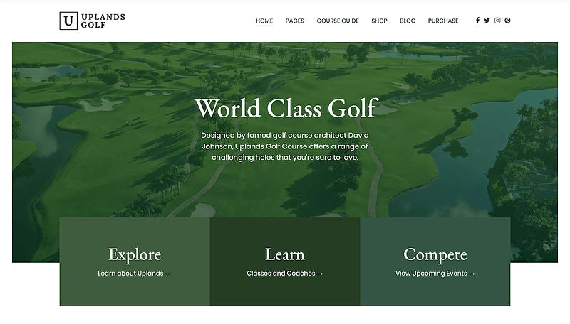 Uplands golf theme
