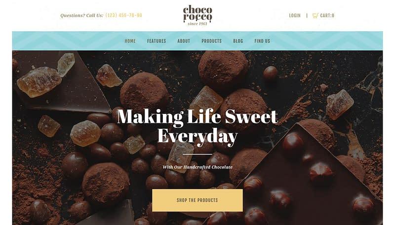 ChocoRocco WordPress theme