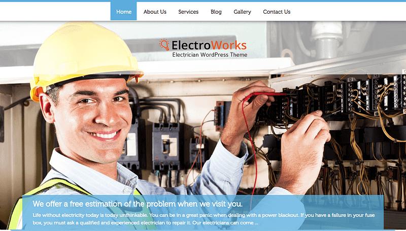 Electroworks WordPress theme