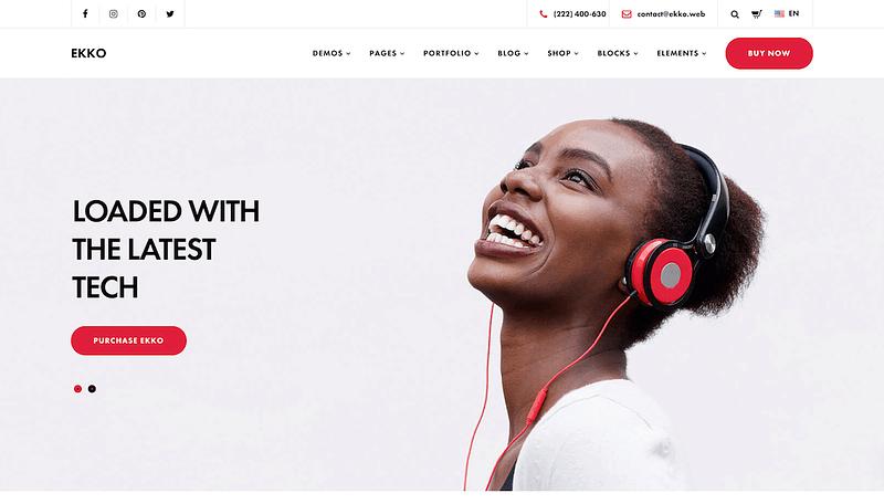 Ekko Product Landing Page