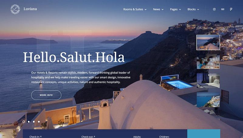 Luviana hotel theme