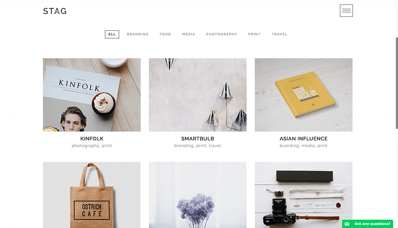 Stag portfolio WordPress theme