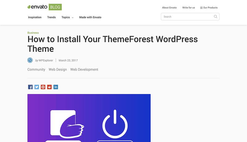 Install Wp Theme Envato