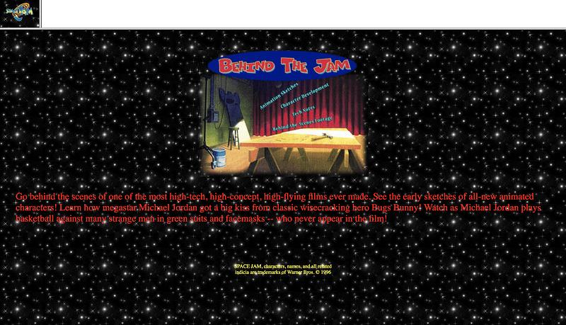 The original Space Jam website