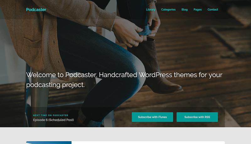 Podcaster WordPress theme