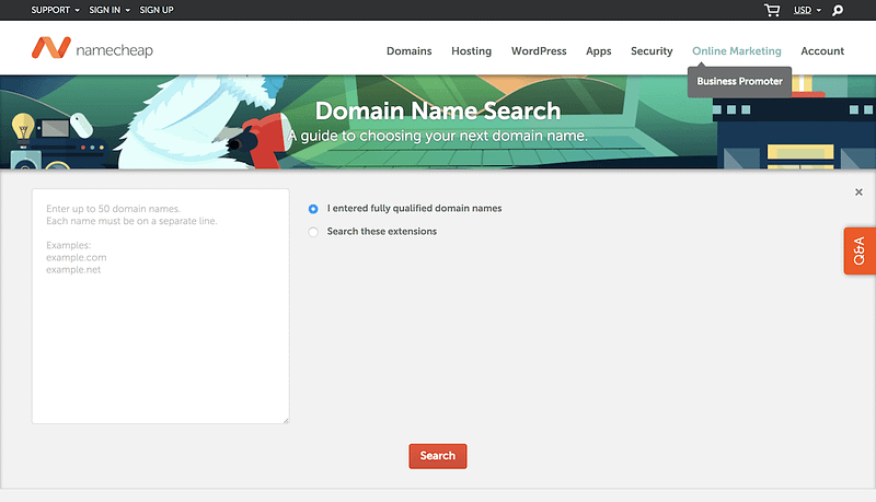 Namecheap Bulk Domain Checker