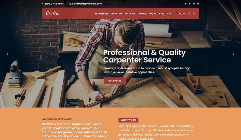 Craftio carpentry theme