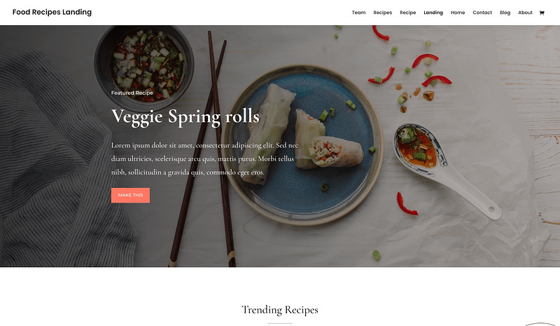 Divi Food Blog