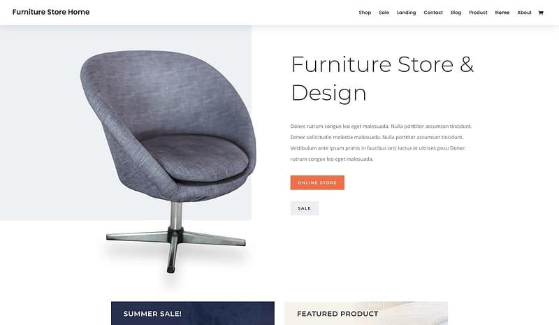 Divi Furniture Store