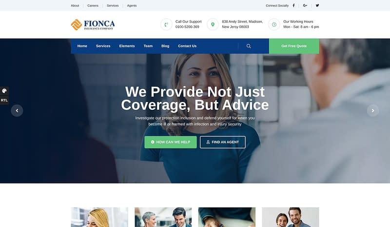 Fionca business theme