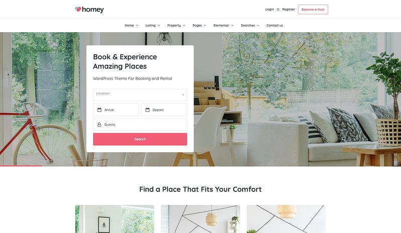 Homey property theme