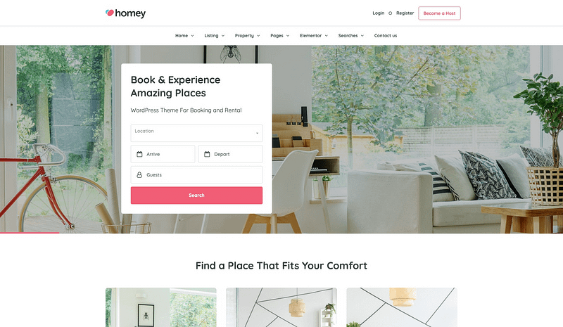 Homey property theme