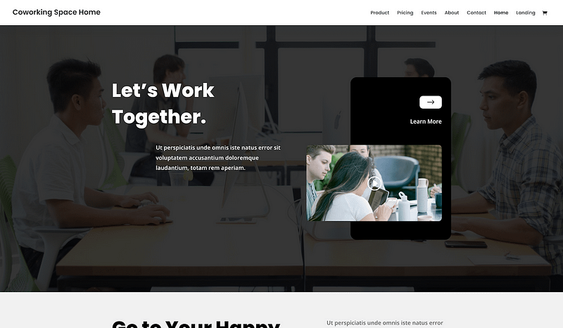 Divi Coworking design
