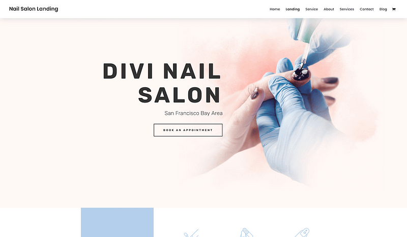 Divi template for nail salons