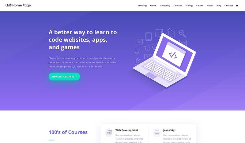 Divi education layout pack