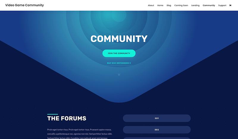 Divi community template