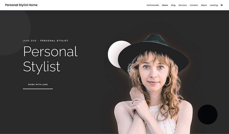 Divi personal stylist template