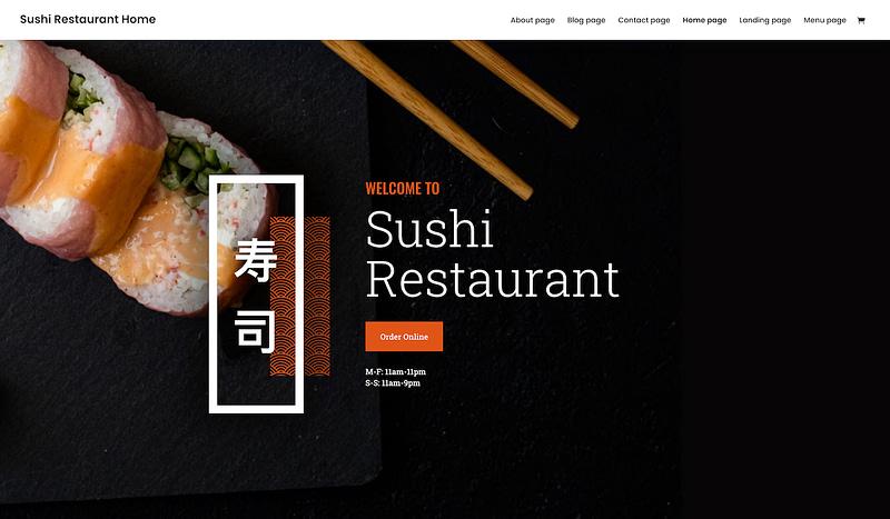 Divi Sushi restaurant template