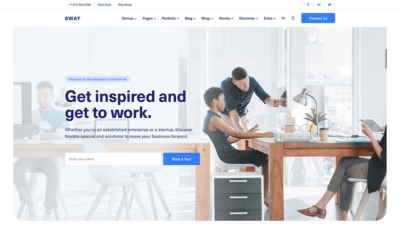 Sway coworking space template