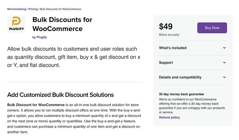 Bulk Discounts for WooCommerce