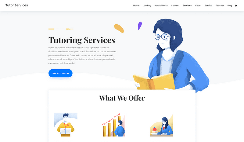Divi tutor template