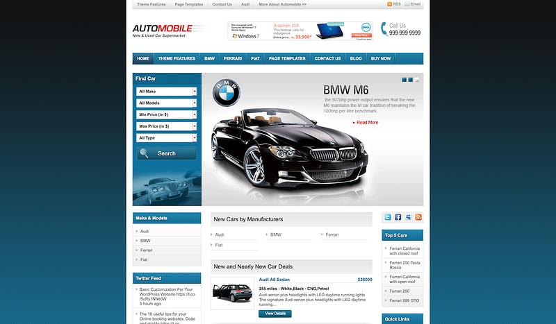 Automobile Theme