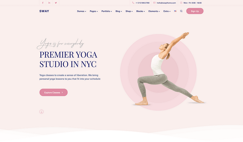 Sway yoga template
