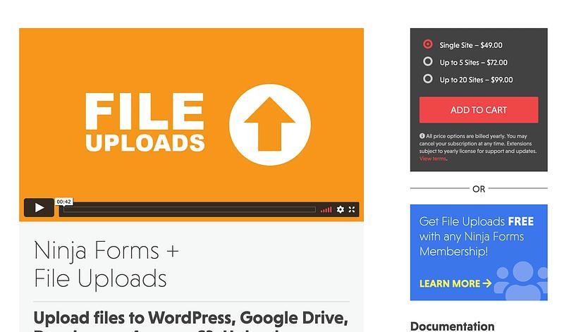 Ninja Forms File Uploads