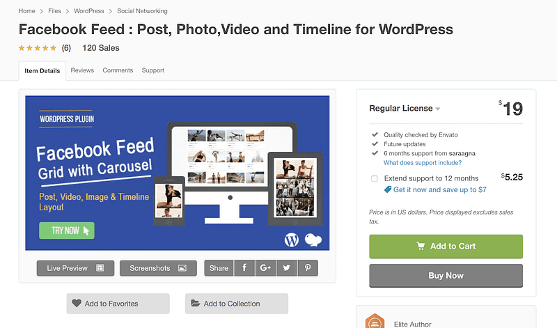 Facebook Feed Grid with Carousel