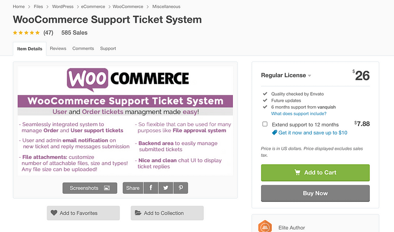 WooCommerce Support Ticket System