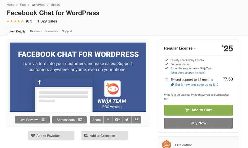 Facebook Chat WordPress