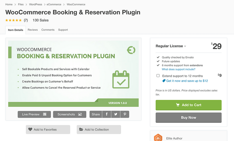WooCommerce Booking & Reservations Plugin