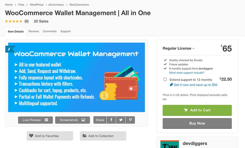 WooCommerce Wallet Management