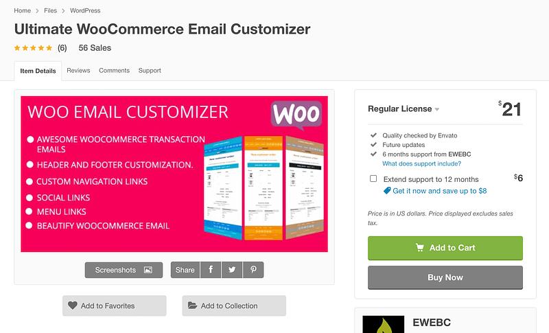 Ultimate WooCommerce Email Customizer