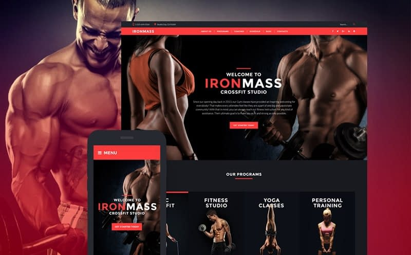 IronMass gym theme