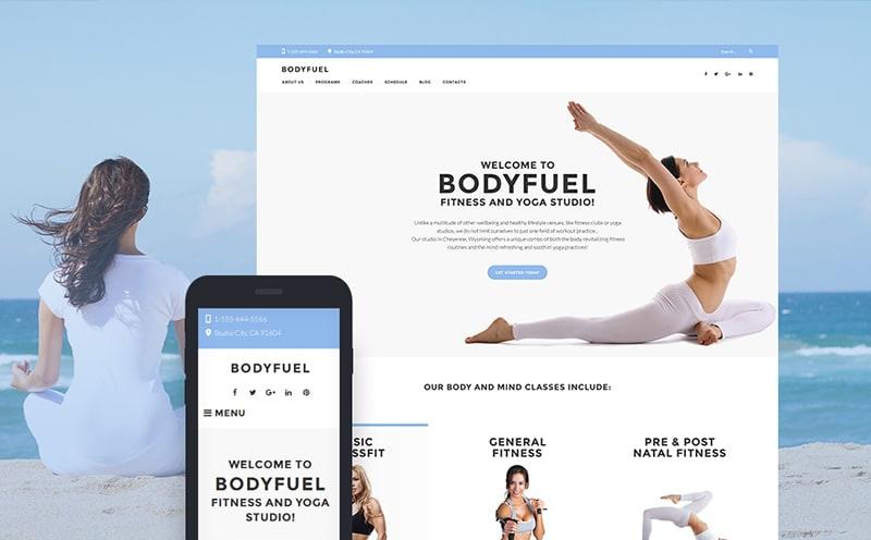 BodyFuel fitness and yoga WordPress theme