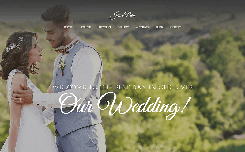 Jen+Ben wedding planner theme