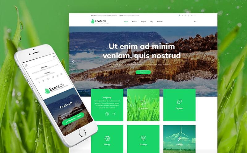 EcoTech WordPress theme