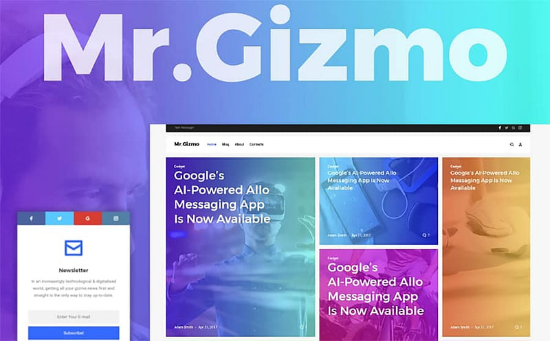 Mr. Gizmo tech WP theme