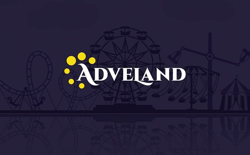 Adveland theme with a video background