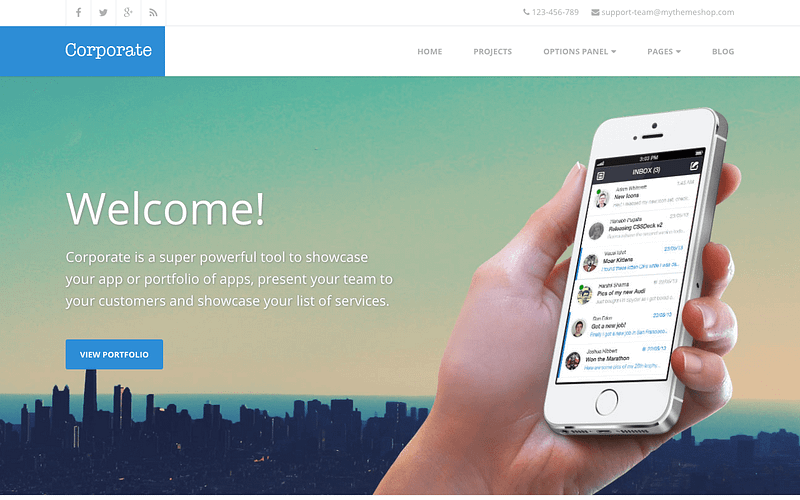 Corporate simple business theme